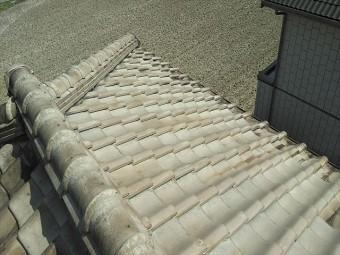 夢前町の大屋根の瓦の様子