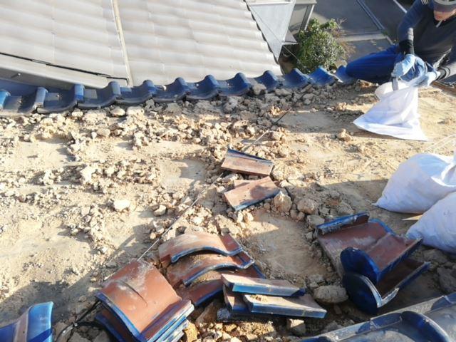 土葺きの瓦屋根