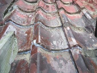 加古川市のDIYモルタル補修の瓦屋根