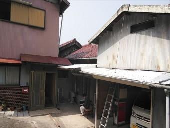 加古川市の瓦屋根の雨漏り調査