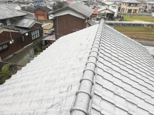 姫路市で瓦葺き替え工事の完工写真