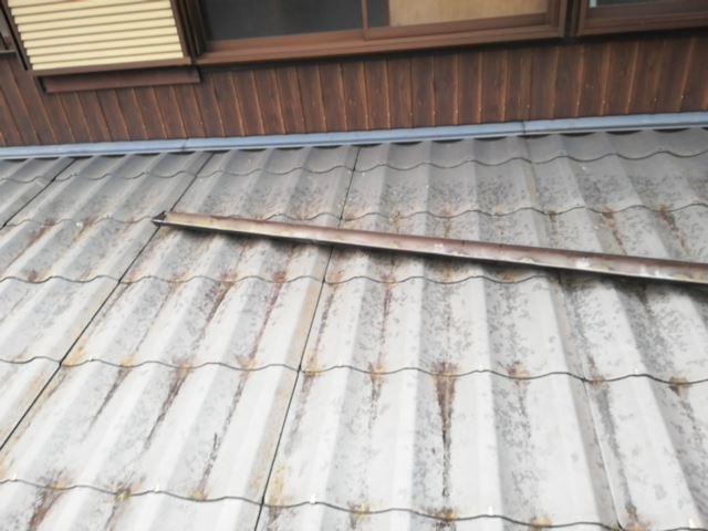 姫路市 雨樋交換工事 交換前の古い雨樋