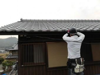 姫路市 雨樋交換工事 取付の様子