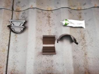 雨樋のジョイント部分