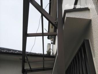 姫路市の傷んだポリカの撤去後の写真
