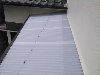 姫路市のポリカ波板の張替え作業後の写真