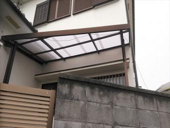 姫路市のポリカ波板の交換後の写真