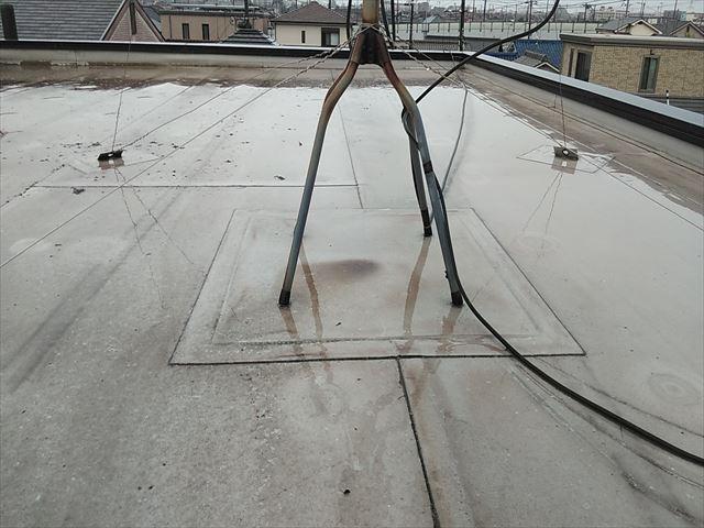加古郡播磨町の陸屋根のテレビアンテナ