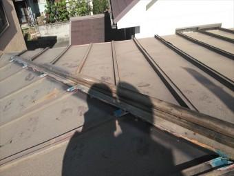 高砂市下がり棟の下地の状況