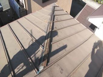 高砂市の台風被害の屋根の板金下地の状態