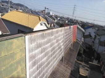 高砂市の長屋の屋根の台風被害