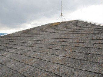 姫路市香寺町のカラーベスト大屋根の写真