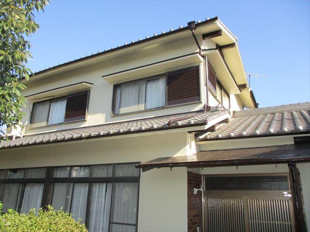 姫路市飾磨区の外壁塗装後の2階外観