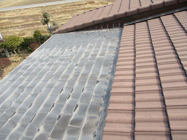 加西市の雨漏りしたモニエル瓦と銅板の複合屋根