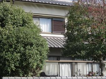 姫路市飾磨区の外壁塗装後の道路からの外観