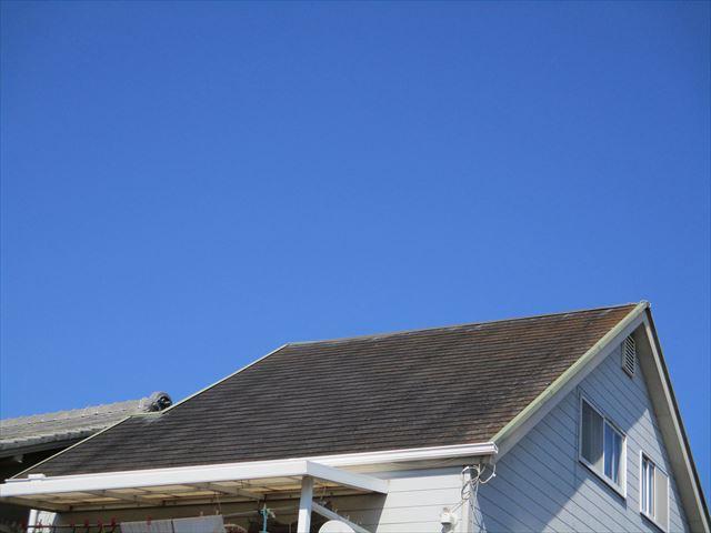 明石市のカラーベスト屋根の現地調査