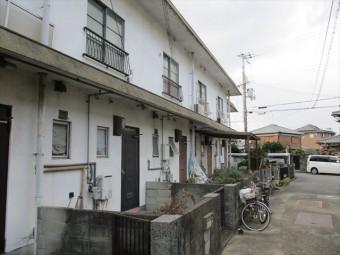 加古川市の築古年の物件の外壁塗装の劣化