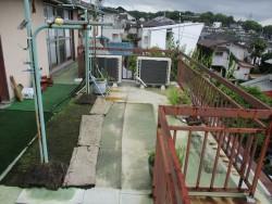姫路市の防水が劣化したバルコニー