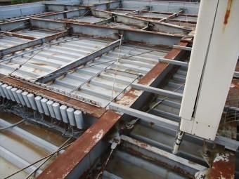 姫路市の店舗の折板屋根