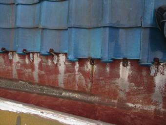 加古川市の雨漏り点検のステンレス谷樋