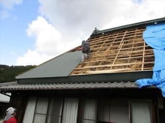 神河町の台風被害の復旧現場