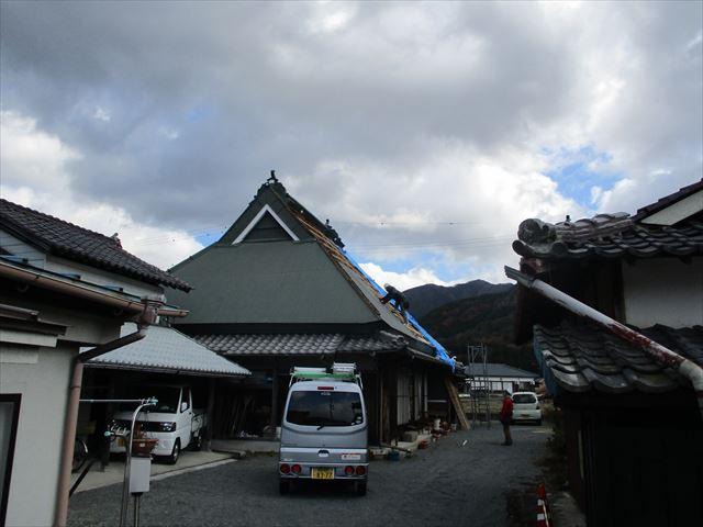 神河町の急勾配の屋根