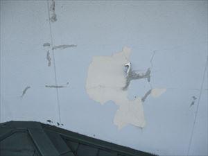 外壁面の劣化塗膜のめくれ