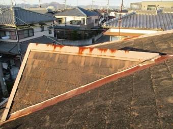 加古川市の谷板金のサビ