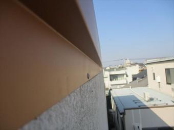 姫路市の棟板金のアンカー施工