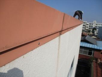 姫路市の折板屋根の壁面アンカー追加補強