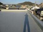 シート防水が施された屋上
