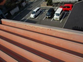 姫路市の折板屋根の固定ビス追加補強