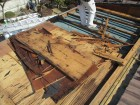 加西市の腐った野地板の撤去