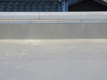 たつの市屋上絶縁シート防水防水完工写真立上り部