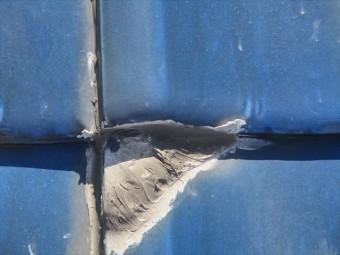 姫路市の雨漏りの瓦屋根ラバーロック