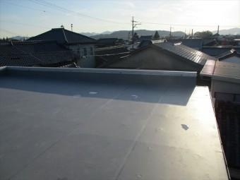 たつの市屋上シート防水完工写真