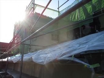 姫路市飾磨区の外壁塗装玄関まわり