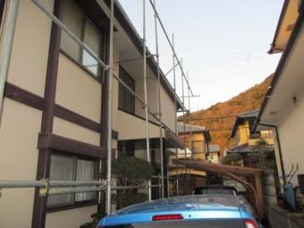姫路市屋根葺き替え足場施工