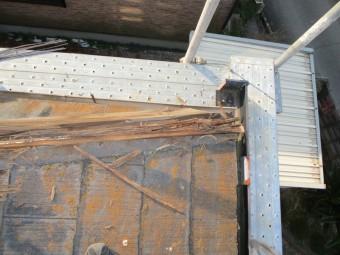 姫路市屋根葺き替え隅棟下地腐食