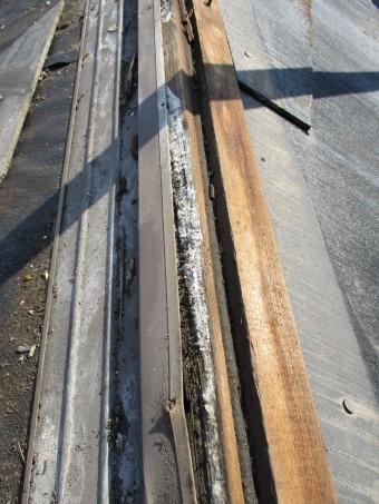 姫路市屋根葺き替え棟下地腐食