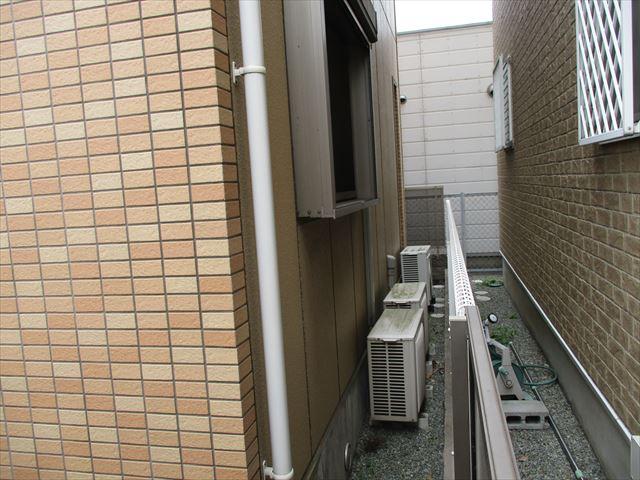 姫路市の隣地境界部の足場検討