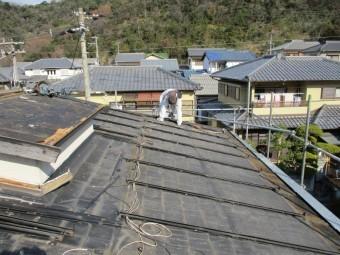 姫路市屋根葺き替え太陽光パネル撤去後