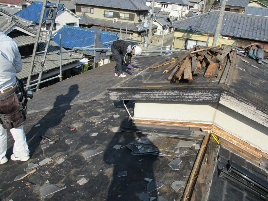 姫路市屋根葺き替えカラーベスト撤去