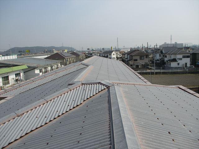 加古川市の築古年のRCの物件の屋根の写真