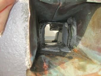 姫路市のベランダ排水口内部の掃除後の写真