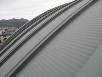 姫路市のR型の金属屋根の現地調査