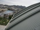 姫路市のR型の金属屋根の足場検討
