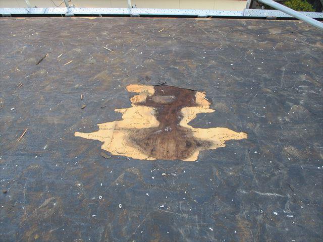姫路市のカラーベスト屋根の太陽光固定部からの浸水