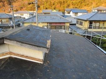 姫路市屋根葺き替えカラーベスト撤去後