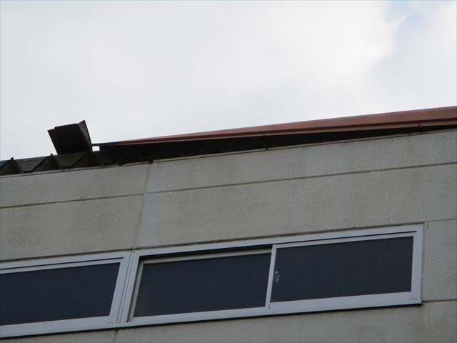 姫路市の完全に外れた屋根板金